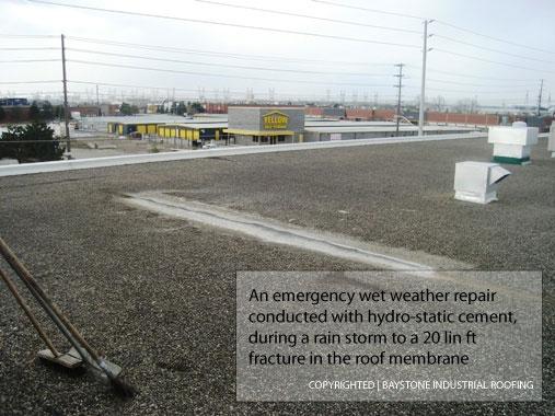 Roof Membrane Repair by Baystone Industrial Roofing